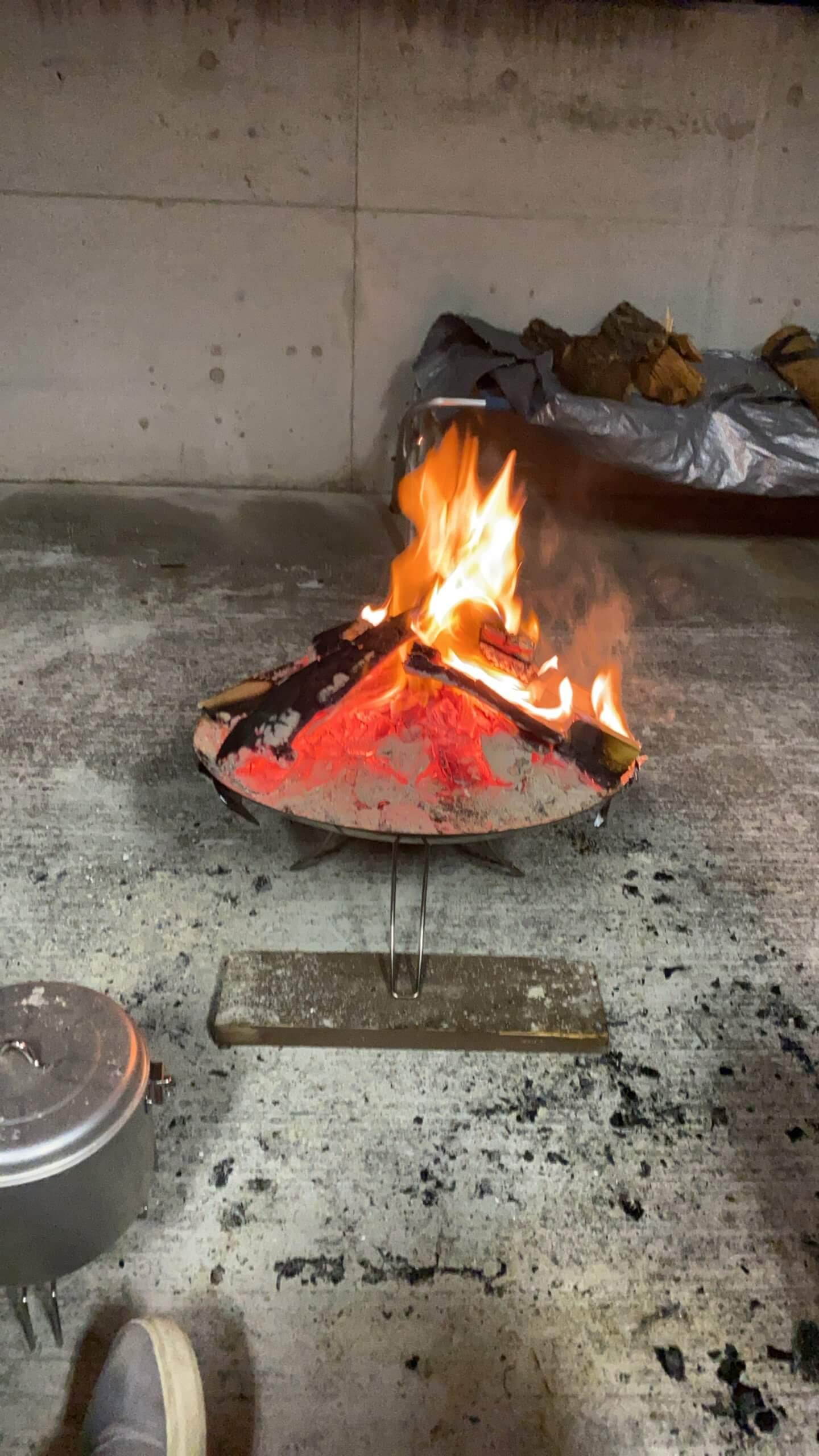 コールマン 焚き火